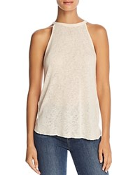 Michelle By Comune Dillard Raw Edge Tank Peach Sorbet
