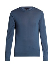 Lanvin Crew Neck Cashmere Sweater Light Blue