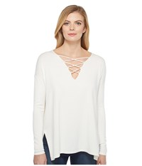 Brigitte Bailey Topsail Long Sleeve Top Ivory Women's Clothing White