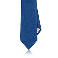 Fairfax Men's Melange Textured Weave Silk Necktie Navy
