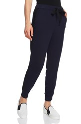 1.State Cozy Knit High Waist Jogger Pants Blue Night