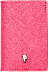 Alexander Mcqueen Pink Leather Skull Wallet
