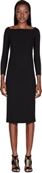 Burberry Black Back Bow Cut Out Dress