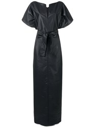Givenchy Long Belted Dress Black