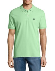Selected Embroidered Logo Polo Green Gage