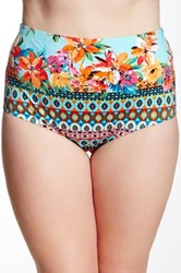 La Blanca Swimwear Garden High Waist Bottom Plus Size Available Multi