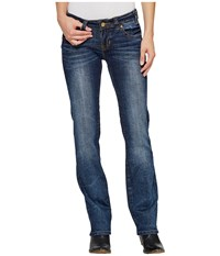 Rock And Roll Cowgirl Rival Straight In Dark Vintage W62325s Dark Vintage Women's Jeans Navy