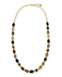 Mixed Dark Horn Station Necklace Nest Jewelry