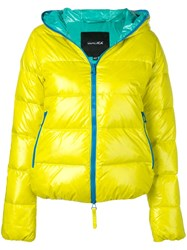Duvetica Hooded Puffer Jacket Yellow