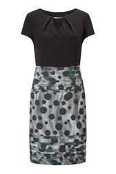 James Lakeland Dots Print Skirt Dress Grey