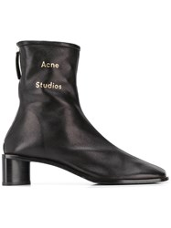 Acne Studios Branded Ankle Boots Black