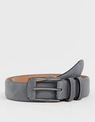 Ted Baker Myke Nubuck Belt In Grey