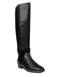 Ted Baker Enjaku Leather Knee High Boots Black