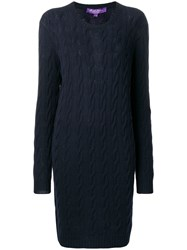 Ralph Lauren Collection Buttoned Sweater Dress Blue