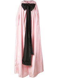Adam By Adam Lippes Draped Coat With Large Bow Pink