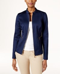 Charter Club Zip Front Jacket Only At Macy's Intrepid Blue