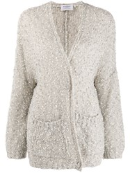 Snobby Sheep Sequinned Cardigan Neutrals