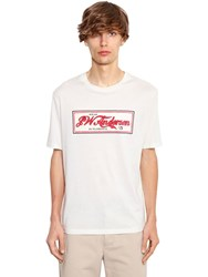 J.W.Anderson Printed Cotton Jersey T Shirt Off White