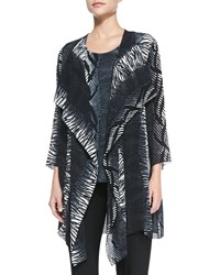 Caroline Rose Open Front Tribal Print Cardigan Women's