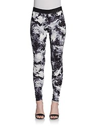 Saks Fifth Avenue Red Galaxy Print Leggings Black White