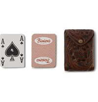 Rrl Embossed Leather Playing Cards Case Brown