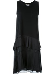 Muveil Layered Frill Dress Black