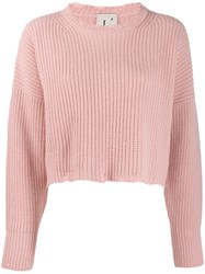 L'autre Chose Cropped Relaxed Fit Jumper Pink