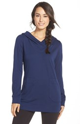 Women's Lole 'Call You' Fleece Hooded Tunic Mirtillo Blue
