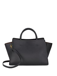 Zac Posen Convertible Leather Tote Bag Black