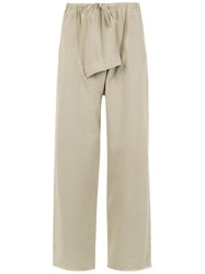 Osklen Drop Croatch Pants Nude And Neutrals