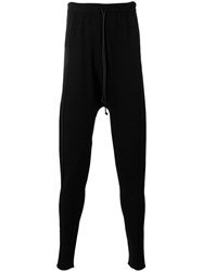 Isabel Benenato Drop Crotch Trackpants Men Spandex Elastane Viscose M Black
