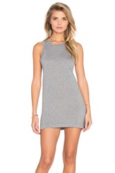 Bobi Lightweight Jersey Crew Neck Tunic Gray