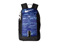 Nike Young Athletes Alpha Adpt Rise Print Backpack Deep Night Black White Backpack Bags Blue