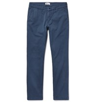 Nn.07 Nn07 Marco Slim Fit Garment Dyed Stretch Cotton Twill Chinos Blue
