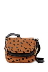 Fossil Peyton Printed Leather Double Flap Crossbody Multi