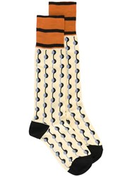 Marni Dot Printed Socks Yellow Orange
