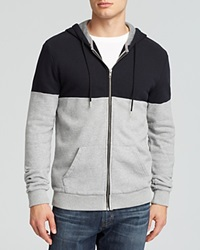 Alternative Apparel Alternative Color Block French Terry Zip Hoodie Black Heather Grey