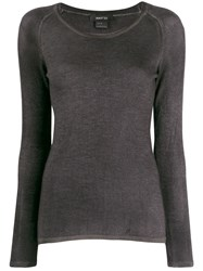 Avant Toi Fitted Knitted Top Grey