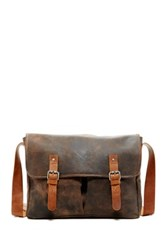 Jack Georges Dakota Leather Messenger Brown