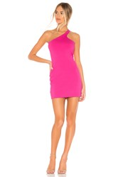 Susana Monaco Curved One Shoulder Dress Pink