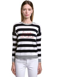 Giada Benincasa Ciao Amore Wool Blend Sweater White