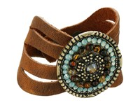 Leather Rock B715 Tobacco Bracelet Brown