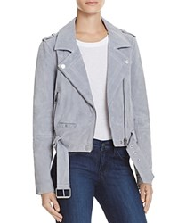 Blank Nyc Blanknyc Suede Moto Jacket Cloud Grey