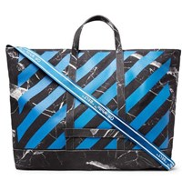 Off White Printed Cotton Canvas Tote Bag Charcoal