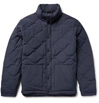 Saturdays Surf Nyc Aturday Tyon Quilted Cotton Blend Hooded Down Jacket Navy