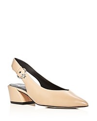 Marc Fisher Ltd. Fancy Pointed Toe Slingback Pumps Medium Natural