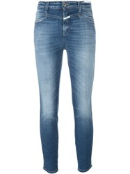 Closed Skinny Cropped Jeans Blue