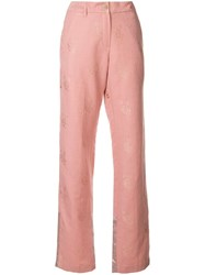 Ann Demeulemeester Classic Flare Trousers Pink