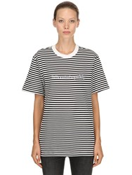 Bbc Billionaire Boys Club Striped Cotton Jersey T Shirt Multicolor