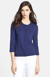 Women's Kate Spade New York 'Somerset' Cotton Blend Cardigan French Navy